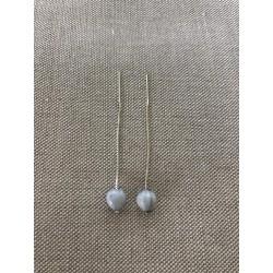 Boucles d'oreilles 65 mm larme de Job