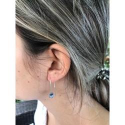 Boucles d'oreilles 65 mm larme de Job foncée