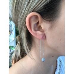 Boucles d'oreilles 110 mm larme de Job foncée