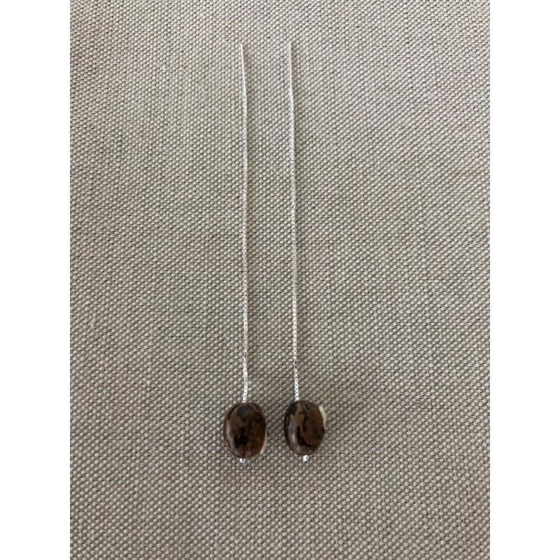 Boucles d'oreilles 110 mm Bengale marbré