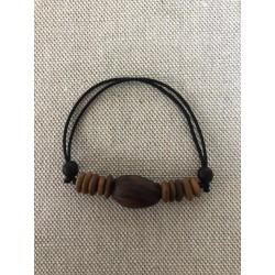Bracelet réglable pois bord de mer langues de vieilles femmes